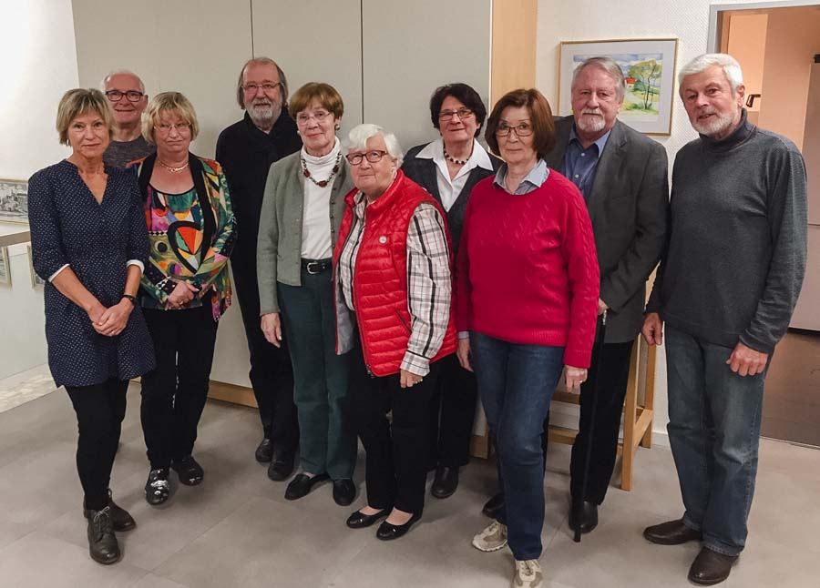 Vorstand vom Kunstverein Witten bei der Jahreshauptversammlung 2018